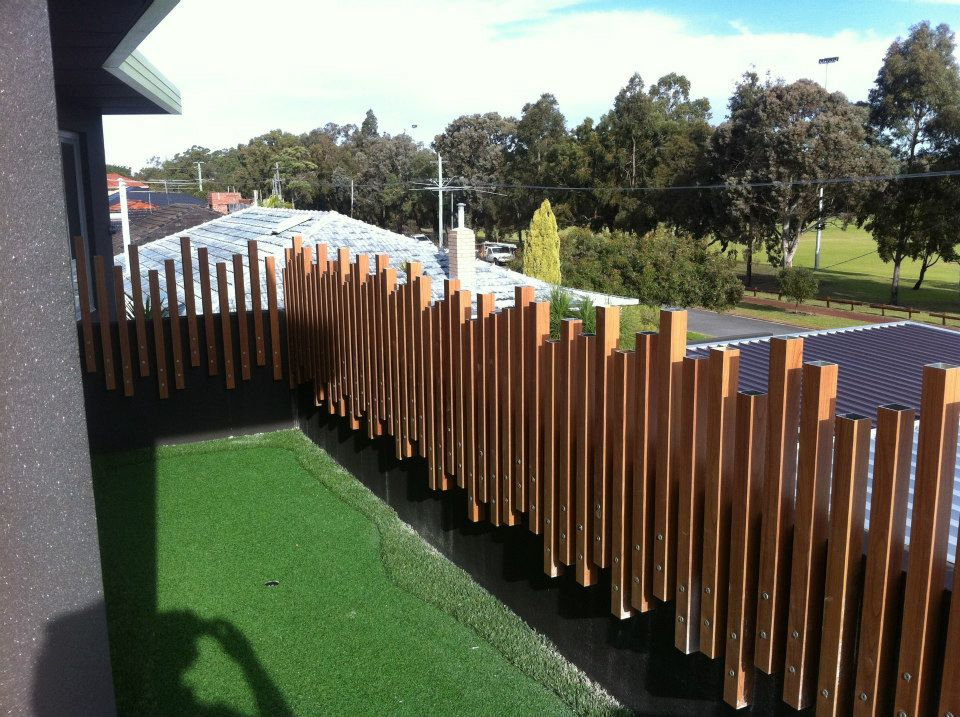 Timber Slatted Panels Perth Screening Solutions